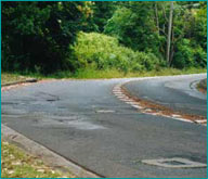 Unsafe road surface